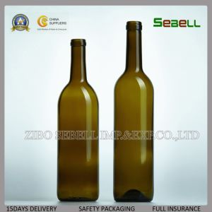 Food Grade Red Wine 750ml Cork Top Glass Bottle (NA-040) pictures & photos