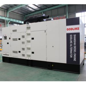 375kVA/300kw Shanghai Diesel Engine Silent Type Diesel Generator Set Shangchai pictures & photos