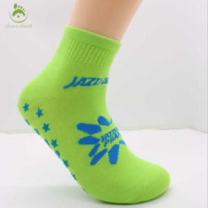 Blue Color Anti Slip Knitted Cotton Custom Pilates Yoga Socks pictures & photos