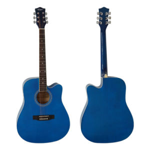 Cheap Cutway Basswood Colour Dreadnaught Acoustic Guitar for Kids pictures & photos