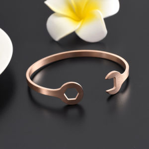 Stainless Steel Rose Gold Silver Black Solid Blank Cuff Tool Bracelet pictures & photos