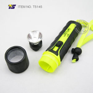 Waterproof 3 Watt LED Flashlight for Diving (T5145) pictures & photos