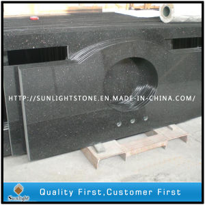 Popular Black Galaxy Granite Bar Tops & Tabletops for Meeting Room pictures & photos