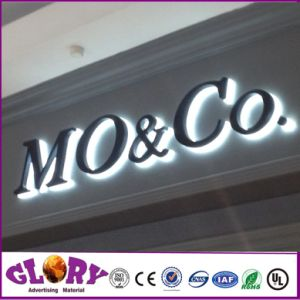 Custom Stainless Steel LED Acrylic Backlit Signage pictures & photos