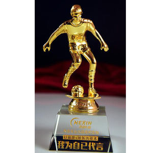 Football Crystal Glass Trophy Award for Sports Souvenir pictures & photos