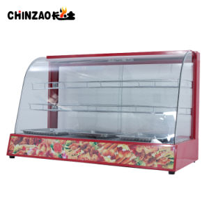 Large 3 Layers Countertop Commercial Hot Food Display Warmers pictures & photos