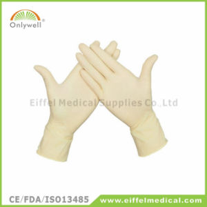 Sterile Disposable Medical Latex Powdered Surgical Glove pictures & photos