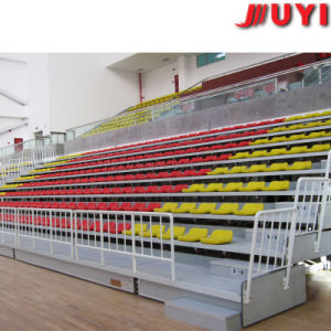 China Motor Driven CE Certificate First Class Durable Soccer Events Indoor Court Bench Chair Retractable Gym Bleachers pictures & photos
