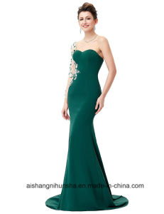 Mermaid Prom Dress A-Line Long Sleeves Evening Dress pictures & photos