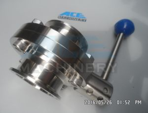 Sanitary Mix-Proof Butterfly Valve Stainless Steel Manual (ACE-DF-2Z) pictures & photos