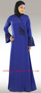 OEM Service Elegant Muslim Women Embroidery Maxi Abaya