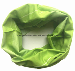 Custom Made Design Printed Green Polyester Microfiber Multifunctional Seamless Magic Headwear pictures & photos