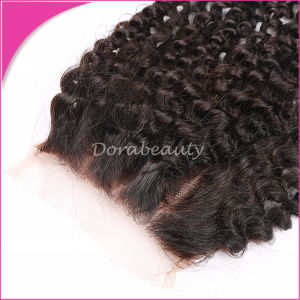 Human Hair in Product Brazilian Lace Closure pictures & photos