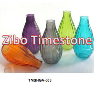 Hot Sale Colored Cheap Glass Flower Vases pictures & photos
