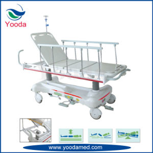 Electronic Control PP Side Rail Patient Transfer Cart pictures & photos