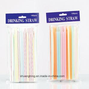 100PCS Stripe/Neon Spoon Straw (70414) pictures & photos