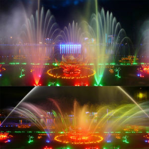 Music Dancing Fountain/ Colorful Lighting Flower Shape Outdoor Fountain pictures & photos