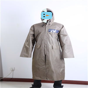 190t Polyester with PVC Coating Police Long Raincoat pictures & photos