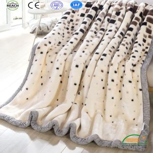 Leopard Printing Coral Fleece Thick Winter Blanket pictures & photos