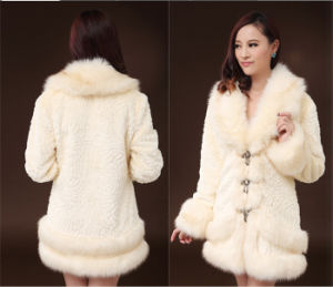 Fur Coat Medium-Long 2014 Slim Collar Faux Rabbit Fur Rex Rabbit Hair Female Winter pictures & photos
