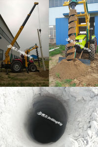 Power Pole Erection Screw Pile Driver Equipment Borehole Drilling Rig pictures & photos