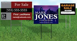 Road Custom Wire Stakes Real Estate Yard Banner Custom Printed Political Yard Sign pictures & photos