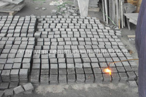 Flamed G654 Granite Tile, Cobble Stone, Cubestone, Paving Stone pictures & photos