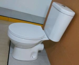 Cheap Price Two Pieces Wash Down Wc Toilet pictures & photos