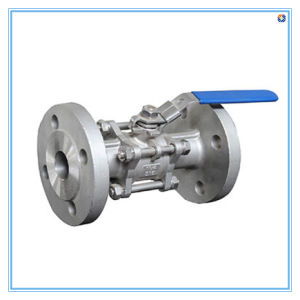 Stainless Steel Flanged Ball Valve, Three-Pieces Latus Rectum Type pictures & photos
