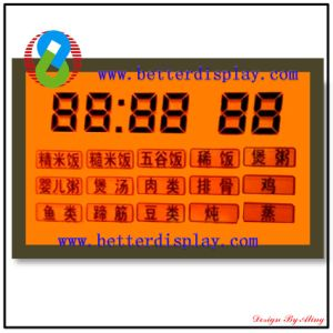 LCD Display Module LCD Panel with Orange Backlight Screen pictures & photos