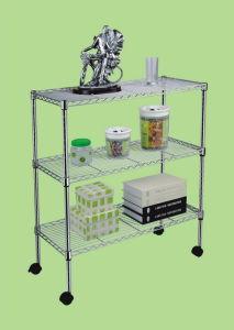 DIY Chrome Wire Metal Shelf for Home Living Room Use (CJ753590B3) pictures & photos