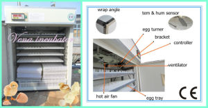 Christmas Goods Factory Wholesale Chicken Egg Incubators for Poultry Eggs Hatching Incubator Va-880 pictures & photos