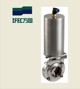 Sanitary Pneumatic Butterfly Valve (IFEC-DF100001) pictures & photos