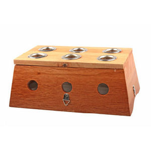 Wood Moxa Box - Six Holes pictures & photos