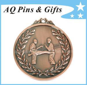3D Karate Medal with Antique Copper Plating pictures & photos