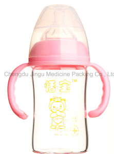 180ml High Borosilicate Glass Baby Bottle OEM and ODM Welcomed pictures & photos
