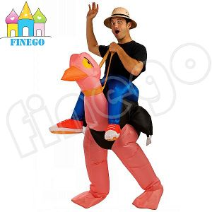 Halloween Inflatable Ostrich Adult Fancy Dress Costumes Bird Stag Hen Night out Outfit pictures & photos