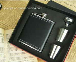 7oz Leather Cover Wine Bottle Flask for Travel Mug pictures & photos