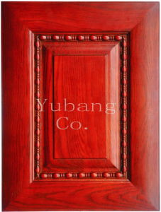 Solid Oak Wood Kitchen Cabinet Door (#YJ-010B) pictures & photos