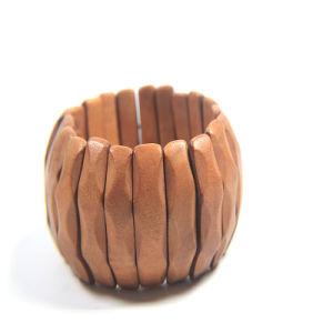 New Item Wood Fashion Jewellery Set Necklace Stretch Bracelet