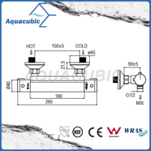 Bathroom Thermostatic Chrome Round Exposed Bar Mixer Shower Valve (AF4202-7) pictures & photos
