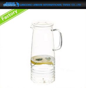 Hot & Cold Drinking Water Glass Teapot with Glass Lid pictures & photos