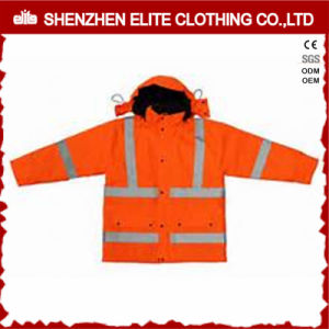 Wholesale Winter Orange Workwear Reflective Jackets (ELTSJI-21) pictures & photos