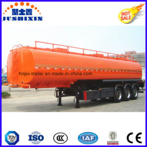3 Axis 42000 Liters Carbon Steel Fuel Tanker Truck Semi Trailer with 1 Silo pictures & photos