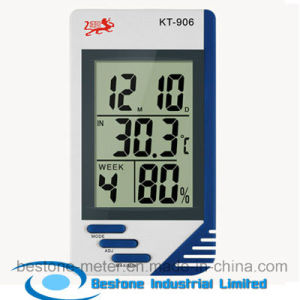 Hygro-Thermometer Clock & Calendar (KT906) pictures & photos