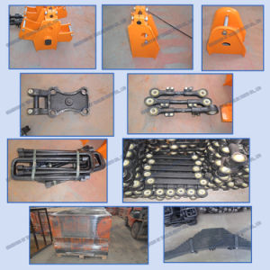 American Type Mechanical Suspension Four Axle Overlung / Underslung with Leaf Spring pictures & photos
