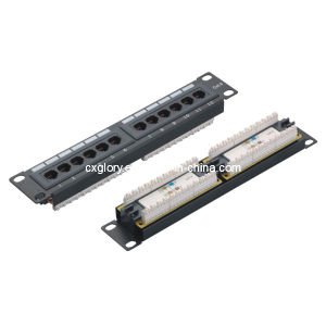 10 Inch 12 Port Prack-Mounted Patch Panel pictures & photos