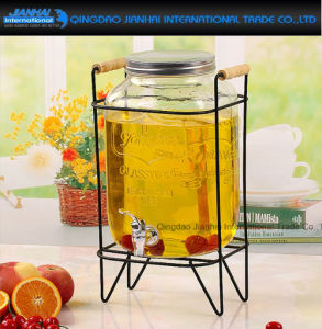 Beverage Wine Fruit Glass Drink Dispenser Jar with Tap pictures & photos