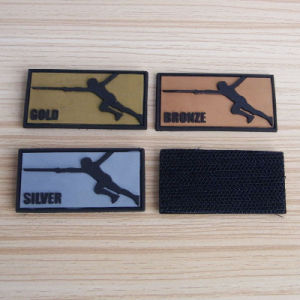 Custom Sport Military PVC Hook & Loop Patch 3D pictures & photos