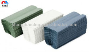 2014 Newest V-Folded Paper Towel, Blue Color Hand Paper Towels pictures & photos